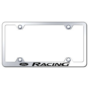 Ford Racing On Mirrored Wide Body License Plate Frame Officially Licensed