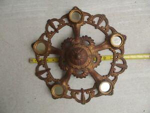 Deco 5 Ceiling Light Fixture 16 Altered For Cup Candle Center Piece Free Ship