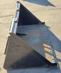 New 84 Skid Steer tractor Snow Mulch Bucket for Bobcat Case Cat With Edge