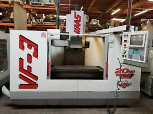 Haas Vf 3 Cnc Milling Machine Auger Pcool Remote Jog See Video