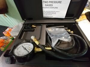 S G Tool Aid 53980 Fuel Injection Pressure Tester With 2 Gages Quick Coupler