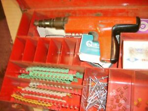 Hilti Dx 350powder Actuated Fastener Gun Case And Extras
