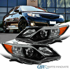For 12 14 Toyota Camry Se Pearl Black Projector Headlights Headlamps Left Right