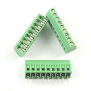 200pcs 2 54mm 0 1 Universal 9 Pin 9 Poles Pcb Screw Terminal Block Connector