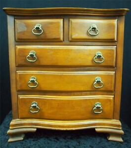 Vtg Tell City Chair Company Salesman Sample Chest Of Drawers 48 Andover Finish