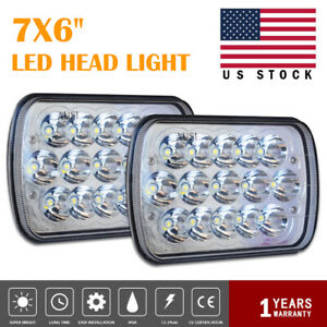 Two 7x6 H4 Headlight For Nissan Hardbody Toyota Truck Conversion Kit Hid Led