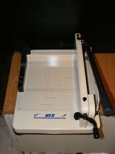 Hfs Heavy Duty 17 Blade Guillotine Paper Cutter 16167 nice clean Hard To Find