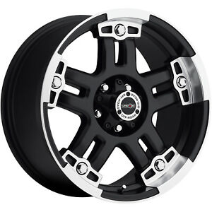 17x8 5 Black Vision Warlord 5x4 5 12 Rims Deegan 38 At Lt285 70r17 Tires