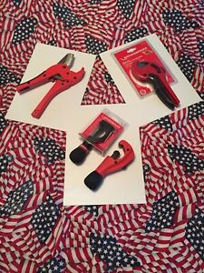 Rothenberger Tool Lot Tubing Pipe Cutters Shears Lot Of 4 Demos