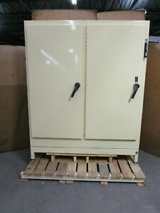 Hoffman A72xm6618ftc 82 x66 x18 Steel 2 Door Electrical Enclosure W Disconnect