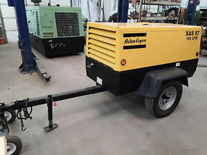 2004 Atlas Copco Xas 97 John Deere Powered 185 Cfm Towable Compressor 1655 Hours