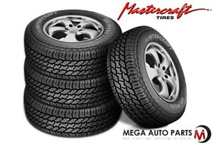 4 Mastercraft Courser Ltr 30 9 50r15lt 104r Owl 6ply C Load All Season Tires