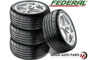 4 New Federal 595 Rpm 335 30zr20 104y Sport Racing Performance Summer Uhp Tire