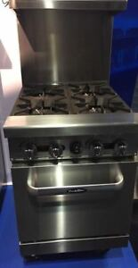 New 24 Range 4 Burners With 1 Space Saver Oven Stove Lp Gas Free Liftgate Del