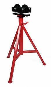 Toledo Pipe 56672 1 8 12 Roller High Head Pipe Stand 29 49 Fit Ridgid Rj 99