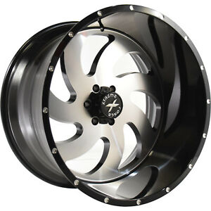 20x10 Black Machined Xtreme Force Xf1 8x170 19 Wheels Trail Blade Boss Tires