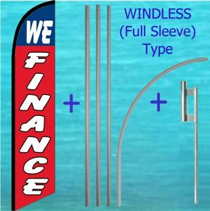 We Finance Windless Banner Flag Pole Mount Kit Tall Feather Super Swooper Sign