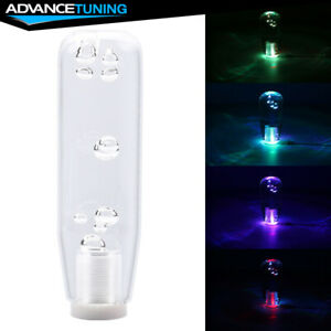 Led Rgb Shift Knob 15cm Transparent Bubble Gear Shifter Includes Thread Adapters
