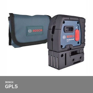 Bosch Gpl 5 Self leveling Alignment Laser 5 Point Laser Level 100ft Ip54 Fedex