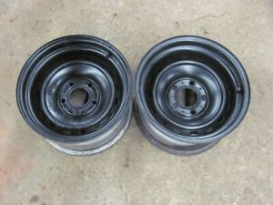 Chevy Gmc 15x8 Rally Wheels 2wd Truck Van Caprice 5x5 Pair Ralley Rims M 1 4 8 2