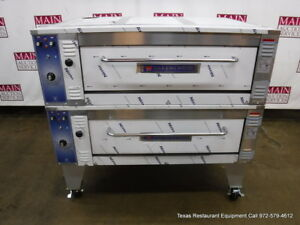 Bakers Pride Ep 8 3836 Electric Double Deck Pizza Oven With Legs
