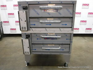 Bakers Pride 251 Gas Double Deck Pizza Oven With Stones Deck 36