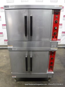 Vulcan Sg4d 8 Gas Double Deck Full Size Convection Oven