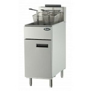New Atosa Natural Gas Or Propane Deep Fryer 50 Lbs Capacity Model Atfs 50