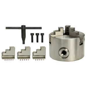 Lathe Chuck 2 Inch Thickness 3 Jaw Self centering Hardened Reversible Tool