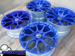 20 Forgiato Drea m Candy Blue Wheels Rims 20x9 20x11 5x120 Bmw M5 M3