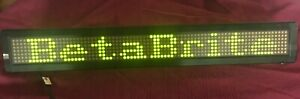 Adaptive Micro Systems Message Sign Beta Brite 213c 1 Led Display W Power Cord