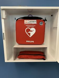 Philips Heartstart Onsite Defibrillator Aed With Emergency Bed And First Aid Kit