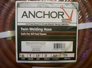 25ft X 3 8 Twin Welding Hose Oxygen Acetylene Grade T b Fittings F s