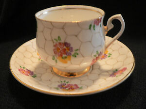 Hand Painted Flowers On Phoenix T F S Ltd Tea Cup And Saucer