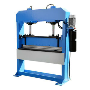 51 Inch X 1 4 Inch Electric 50 Ton Hydraulic Press Brake Bender 2 Cylinder