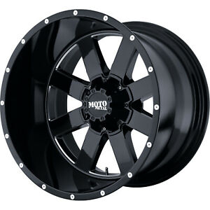 17x10 Black Mo962 8x6 5 24 Rims Extreme Country 315 70 17 Tires