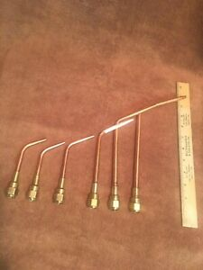 Nice Set Of 6 Victor Welding Brazing Tips 100 100c 100fc Victor Cutting Torch