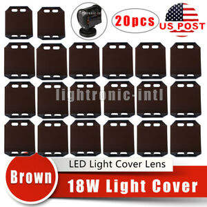 20pcs 4inch 18w Brown Led Work Fog Light Bar Lens Covers For Off Road Suv Boat