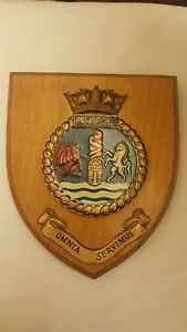 Hms Pembroke Royal Navy Ship Plaque Wall Shield Hand Painted