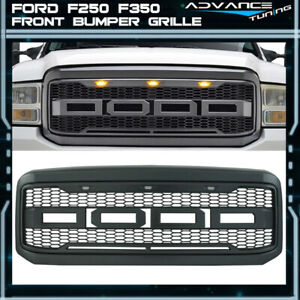 For 05 07 Ford F250 F350 New Raptor Style Front Bumper Grille Hood Package Abs