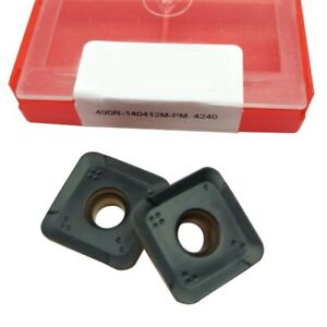 490r 140412m pm 4240 Threading Carbide Inserts Cutting Tool For Lathe Cnc 10p