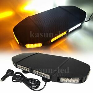 20 Inch Amber White Led Emergency Strobe Light Car Truck Roof Top Warning 144w