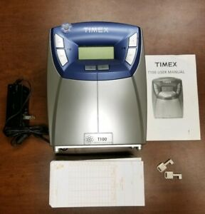 Acroprint Timex T100 Electronic Time Clock W atomic Synchronization
