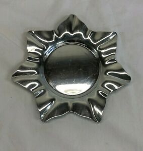 Sheffield Silver Plated Small Star Tray 6 Missing Glass Candy Holder