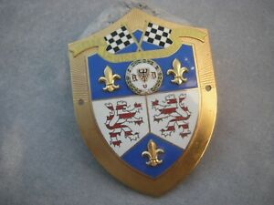 Vintage German Avd Hesse Motor Sports Club Wiesbaden Automobile Car Club Badge