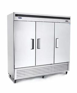 New 3 Door Commercial Reach In Refrigerator Cooler 2 Year Warranty Free Liftgate