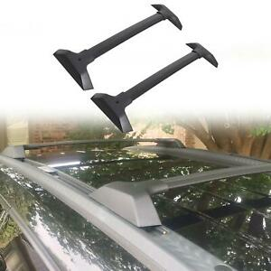 For 09 17 Chevy Traverse Bolt On Roof Rail Cross Bar Pair Cargo Carrier 19244268