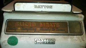 Rare Vintage Dayton Butcher Meat Scale Deli Produce Weights Market Pounds