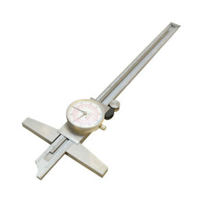 8 Inch 200mm Metric Dual Reading Dial Caliper Stainless Steel Measurement Tool