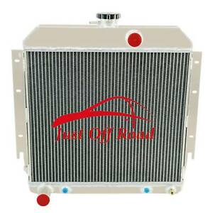 3 Row Auminum Radiator For Plymouth Valiant Barracuda L6 V8 Engines 1963 1966 64